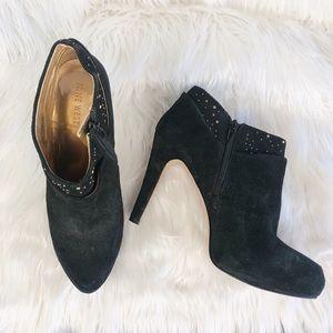 💎 Black Suede Embellished Booties 💎